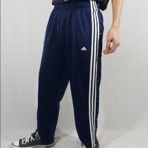 Vintage Adidas Snap Button down Sweat Pants